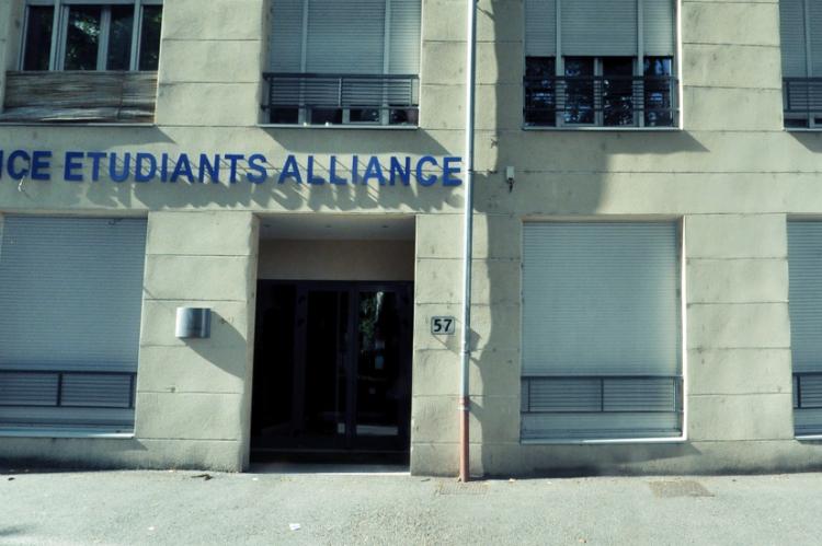 facade de la résidence étudiante